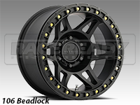 Method 106 Matte Black Truck Beadlock Wheels