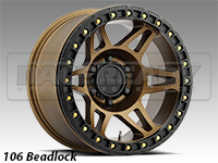 Method 106 Matte Bronze Truck Beadlock Wheels