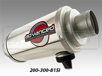 "Advanced Air Cleaner Systems 8"" X 15"" Inline Super Flow Filter"