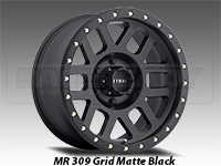 Method 309 Grid Matte Black Truck Wheel