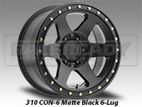 Method 310 Con 6 Matte Black Truck Wheels
