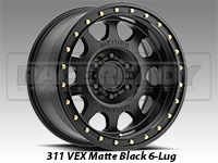 Method 311 Vex Matte Black Truck Wheel