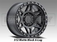 Method 312 Matte Black Truck Wheels