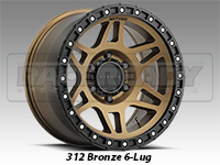 Method 312 Bronze Truck Wheels