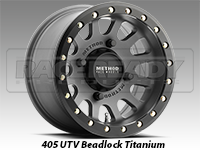 Method Wheels 401 UTV Beadlock Titanium