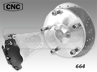 CNC Series 664 Rear Disc Brake Kit