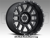 Method 606 Mesh Matte Black Truck Wheel