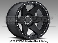 Method 610 Con 6 Matte Black Truck Wheels