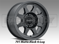 Method 701 Matte Black Truck Wheels