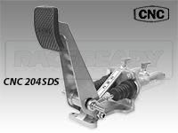 CNC Series 204 Brake Pedal-Dual Non Reservoir Master Cylinders