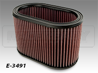 K&N Weber Oval Replacement Filter Elements