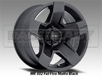 Method 302 Fat Five Matte Black Truck Wheel