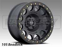 Method 105 Matte Black Truck Beadlock Wheels