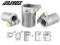 Light Racing Rod End Receivers-Round