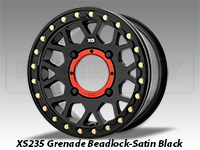 KMC XS235 Grenade Beadlock Wheel-Satin Black