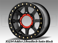 KMC XS234 Addict 2 Beadlock Wheel Satin Black