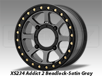 KMC XS234 Addict 2 Beadlock Wheel Satin Gray