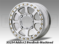 KMC XS234 Addict 2 Beadlock Wheel Machined