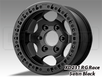 KMC XD231 RG RACE Beadlock Wheels-Satin Black