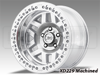KMC XD229 Machete Crawl Beadlock Wheels-Machined