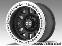 KMC XD229 Machete Crawl Beadlock Wheels-Satin Black